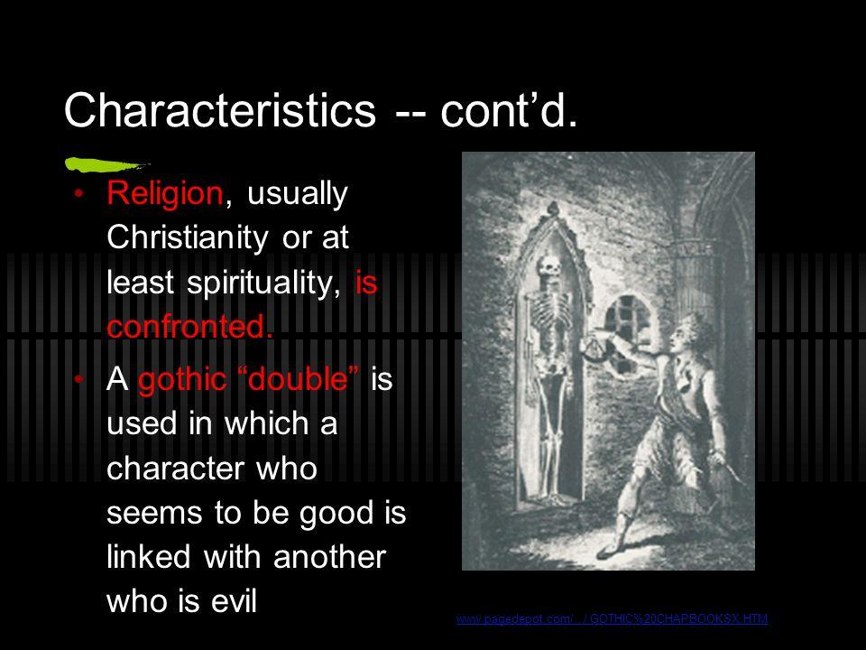 Characteristics -- cont'd.
