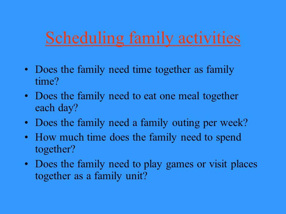 Scheduling family activities