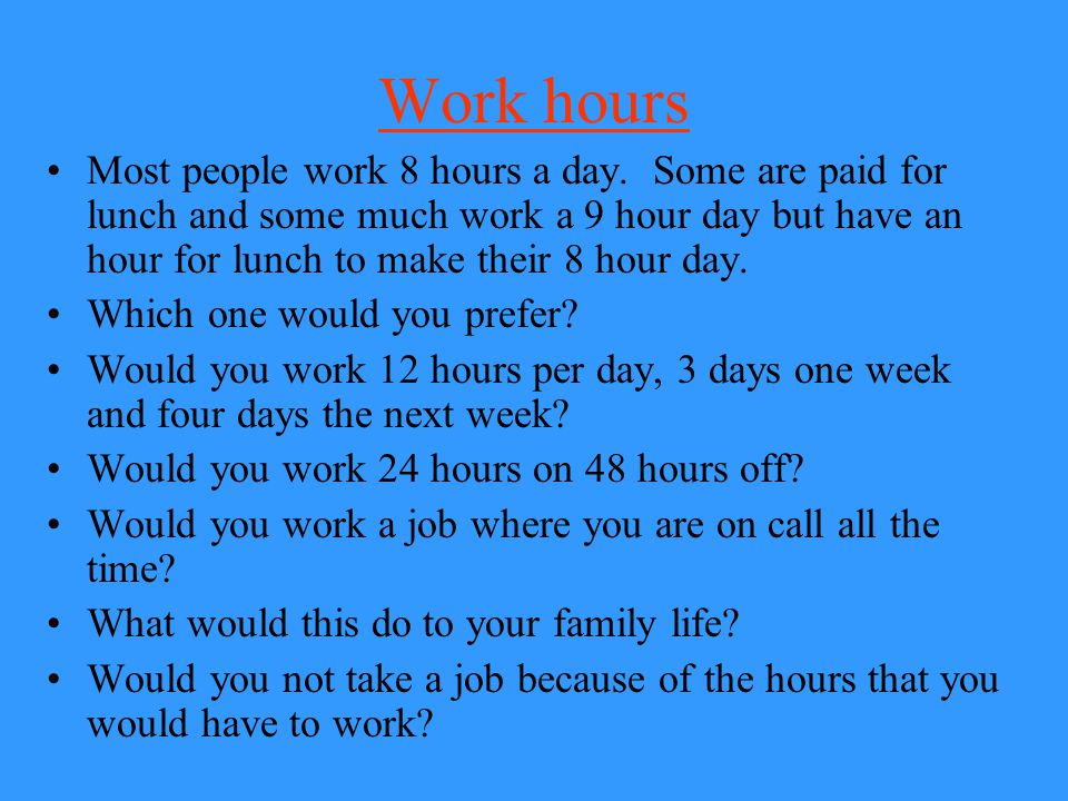 Work hours