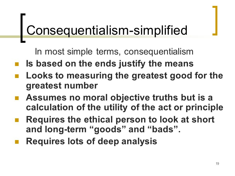 Consequentialism-simplified
