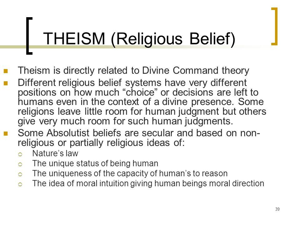 THEISM (Religious Belief)