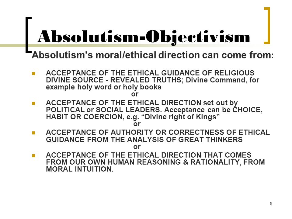 Absolutism-Objectivism