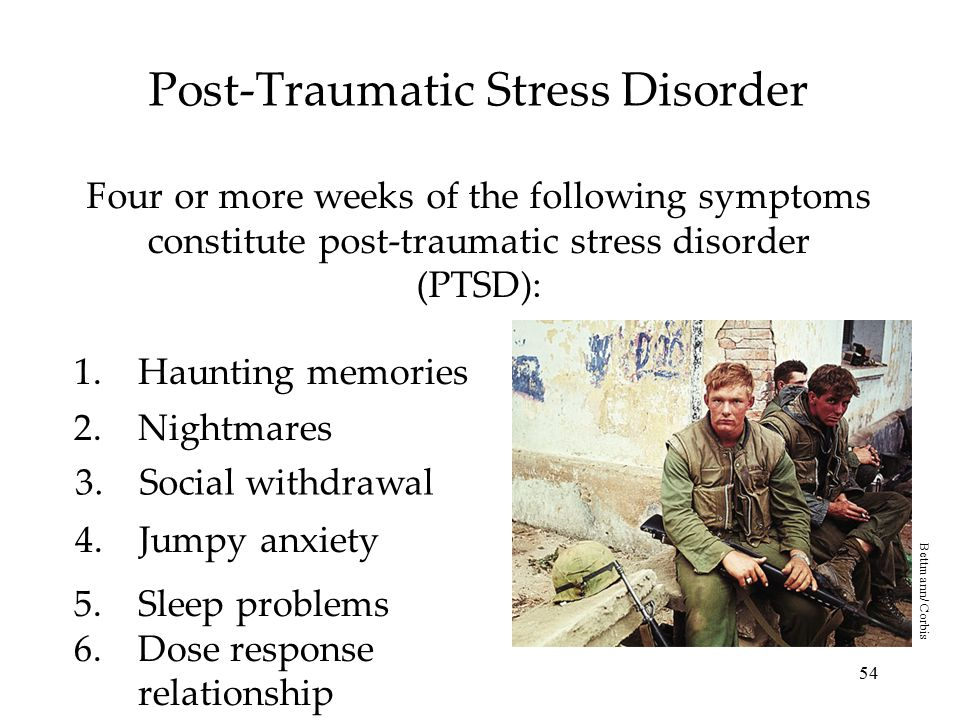 the development of post traumatic stress disorder in the wake of the holocaust You may inherit susceptibility post-traumatic stress disorder first entered the medical vernacular in 1980, when it was officially included in the diagnostic and statistical manual of mental disorders in the wake of the vietnam war.