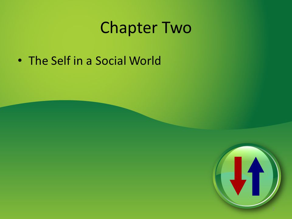 Chapter Two The Self in a Social World