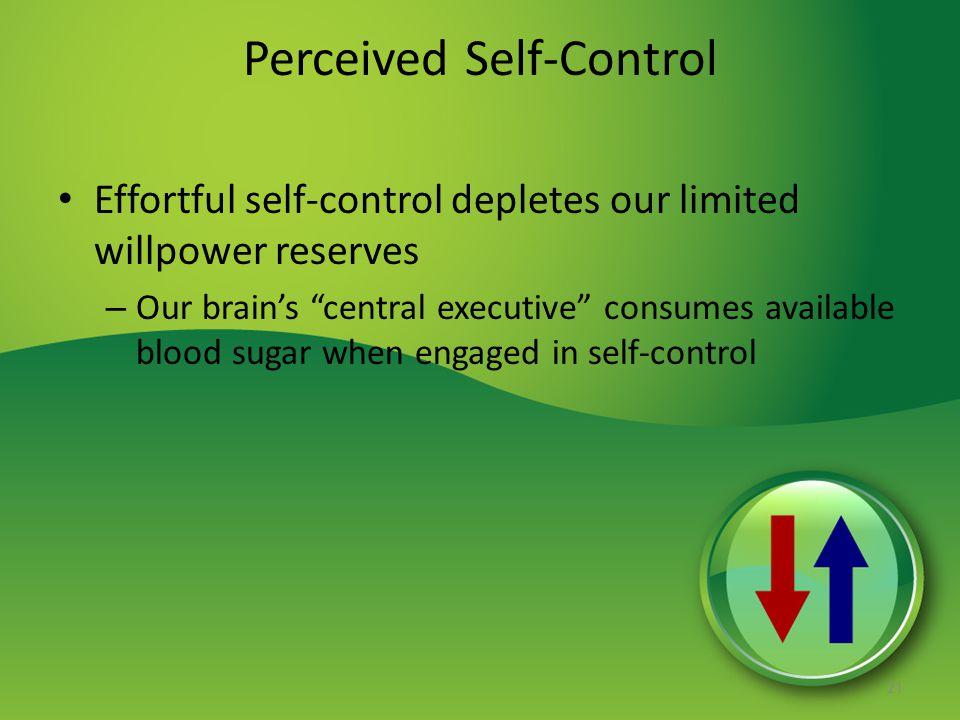 Perceived Self-Control