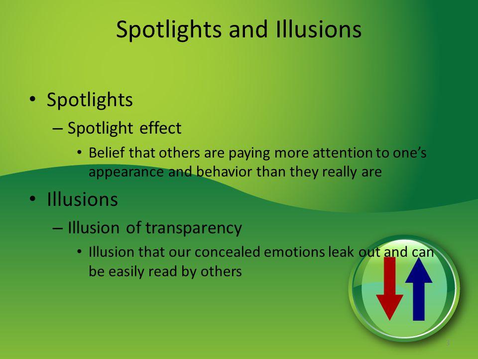Spotlights and Illusions