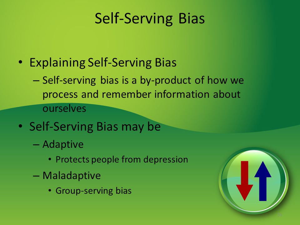 Self-Serving Bias Explaining Self-Serving Bias