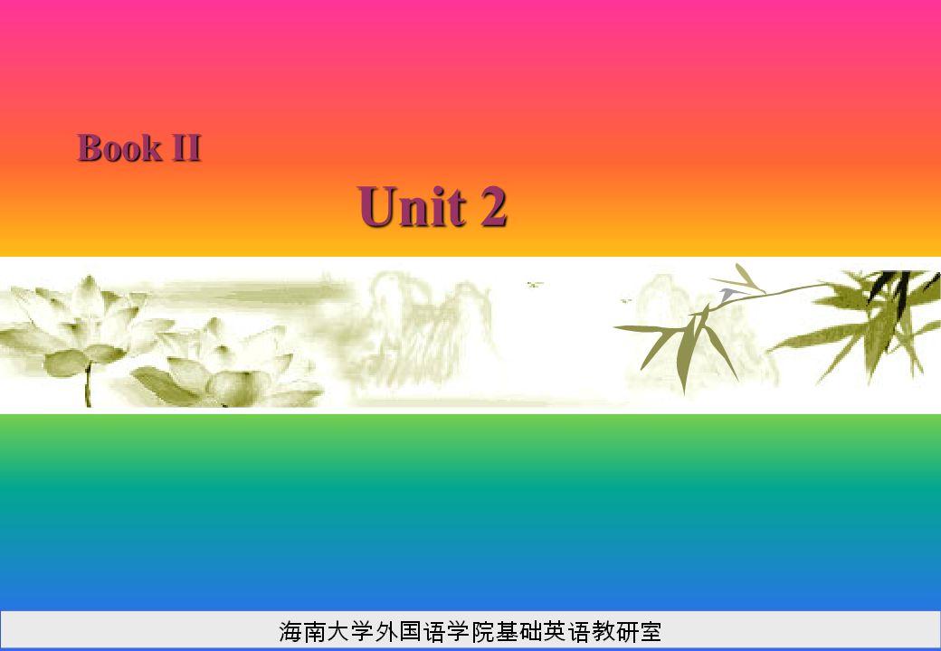Book II Unit 2