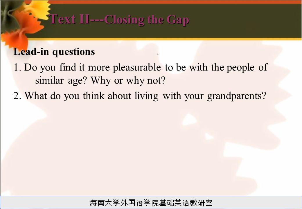 Text II---Closing the Gap