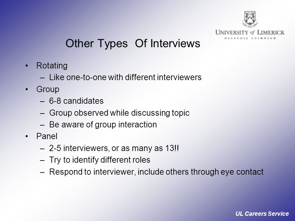 Other Types Of Interviews