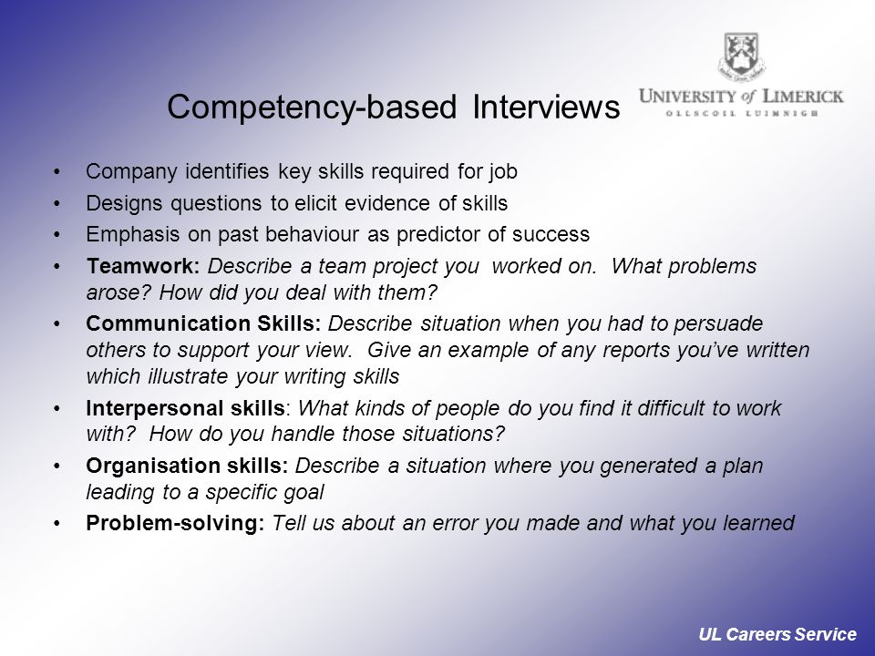 Competency-based Interviews
