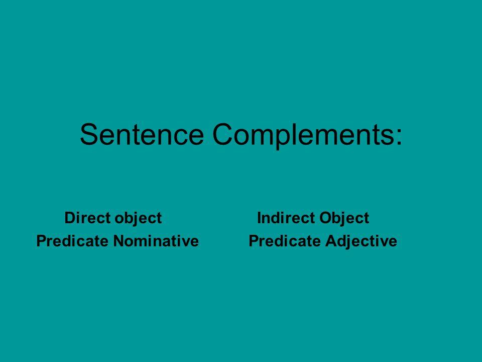 Sentence Complements:
