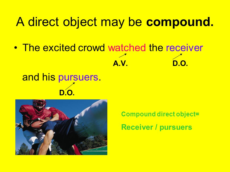 A direct object may be compound.