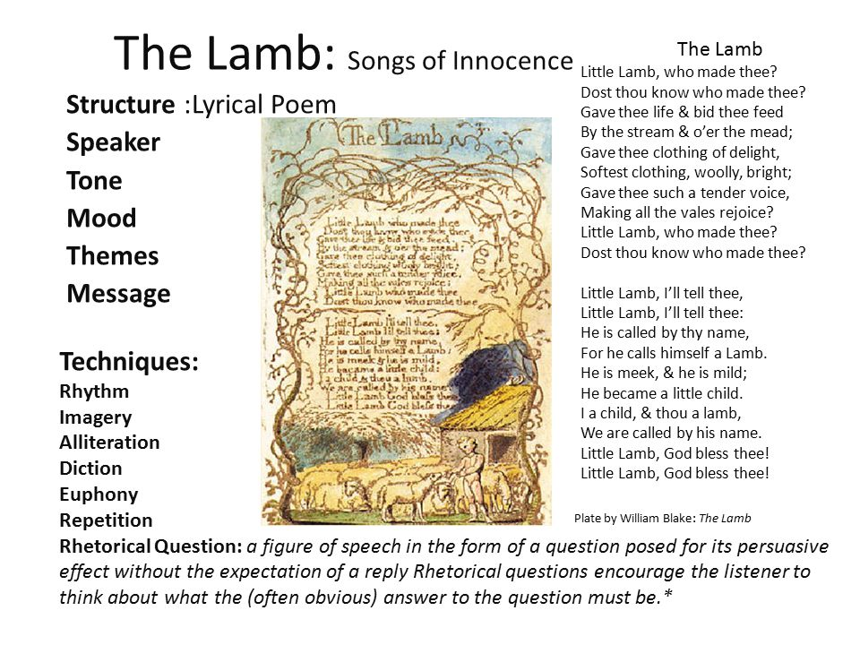 The Lamb: Songs of Innocence