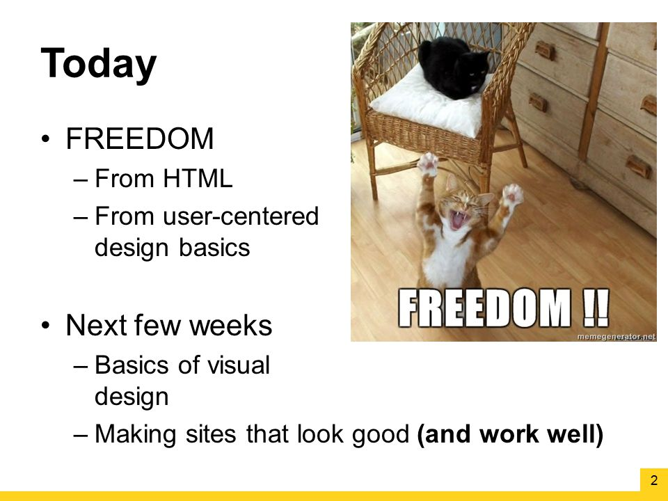 Today FREEDOM Next few weeks From HTML