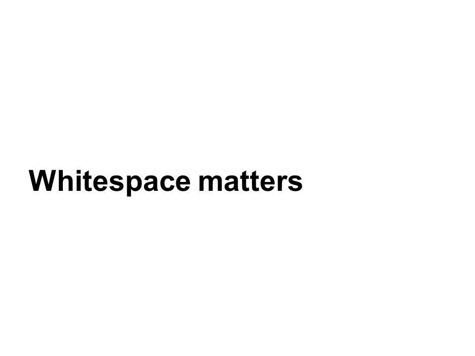 Whitespace matters