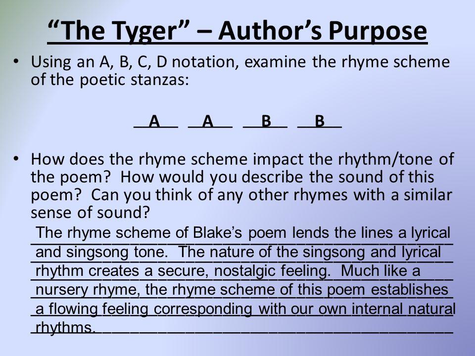 The Tyger – Author's Purpose
