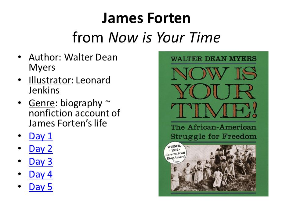 James Forten from Now is Your Time