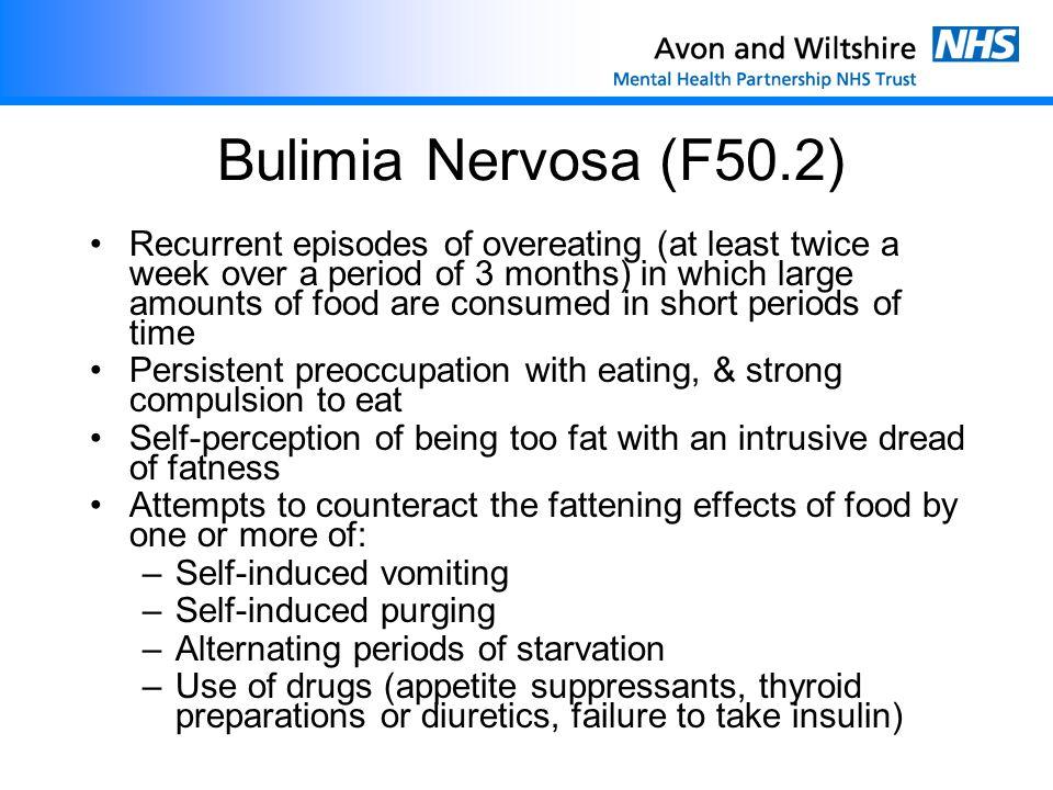 Bulimia Nervosa (F50.2)