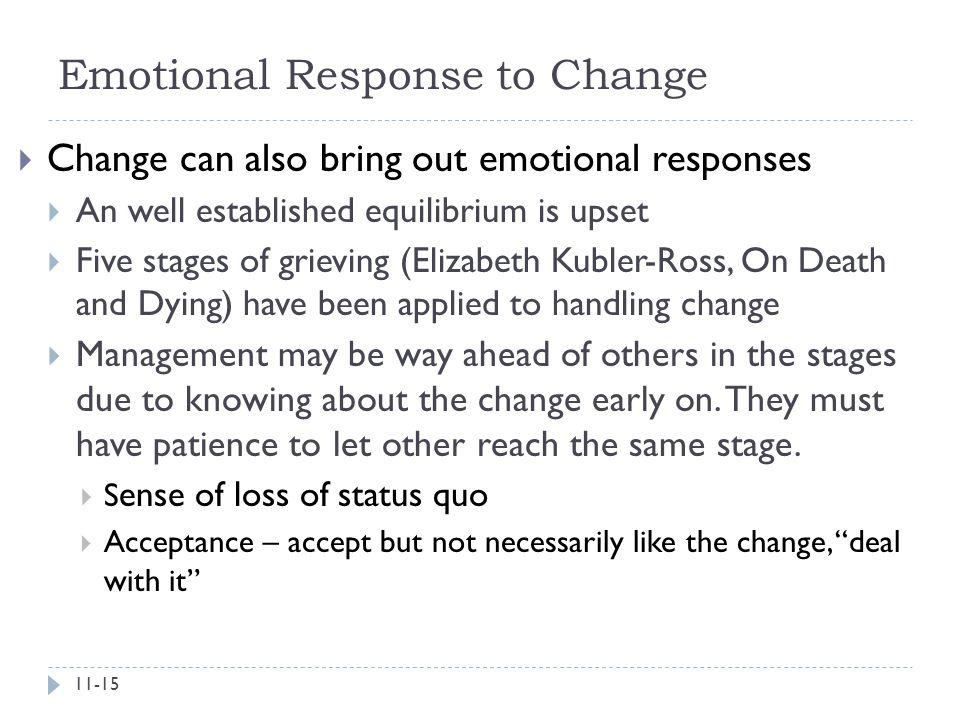 Emotional Response to Change