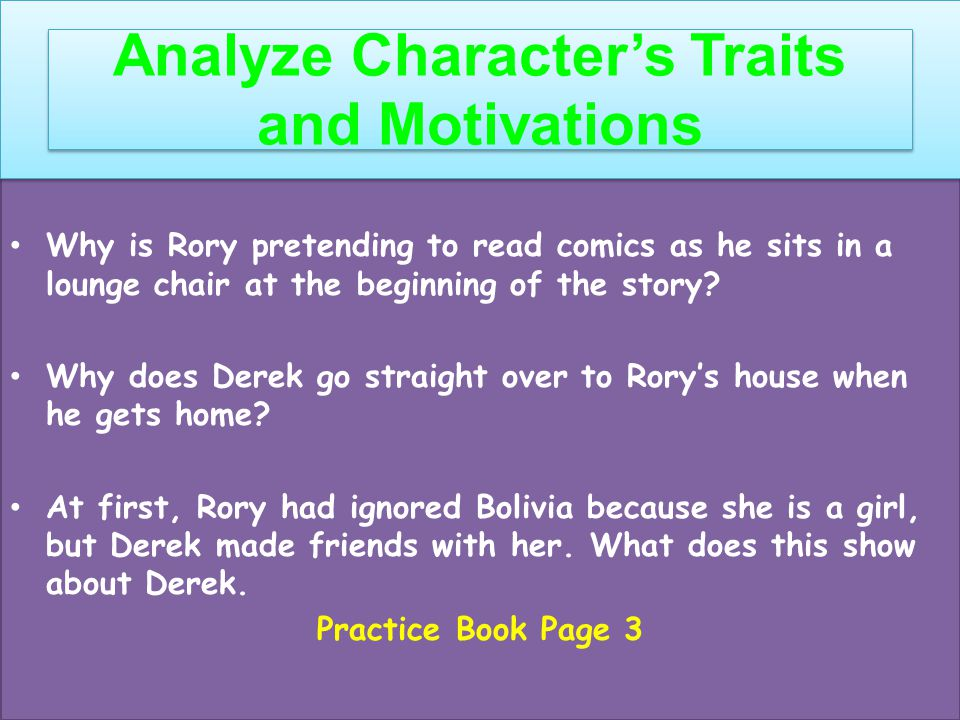 Analyze Character's Traits and Motivations