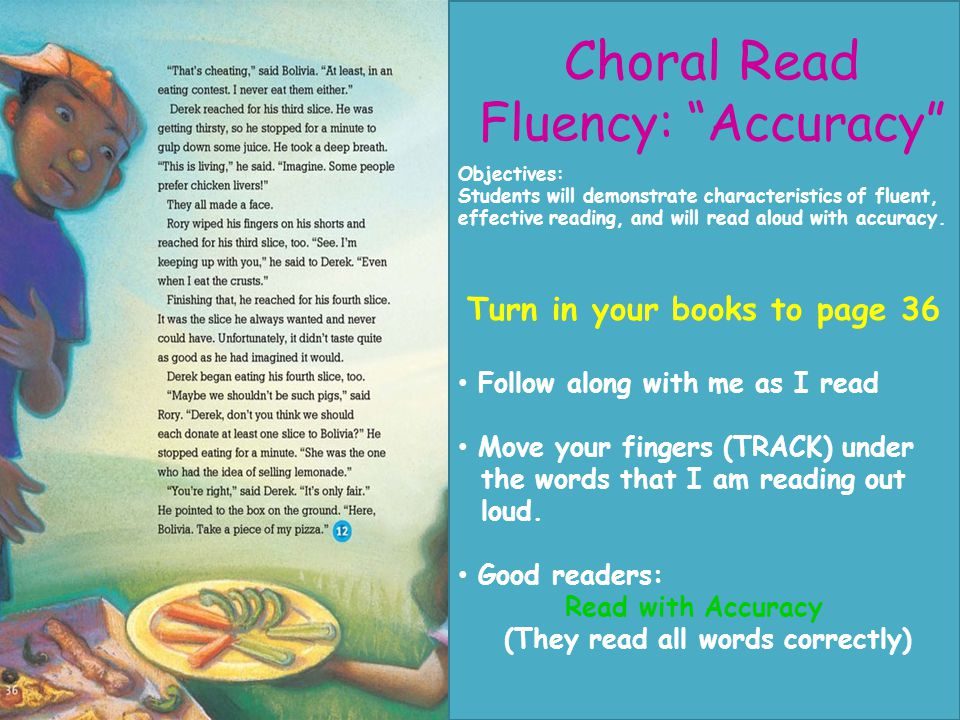 Choral Read Fluency: Accuracy