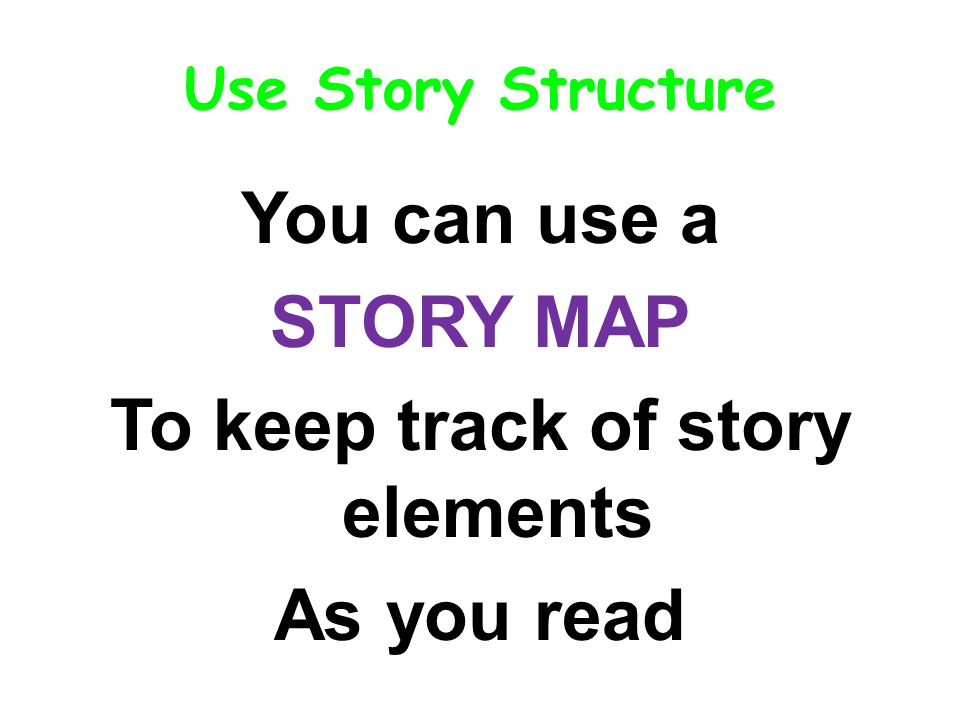 You can use a STORY MAP To keep track of story elements As you read