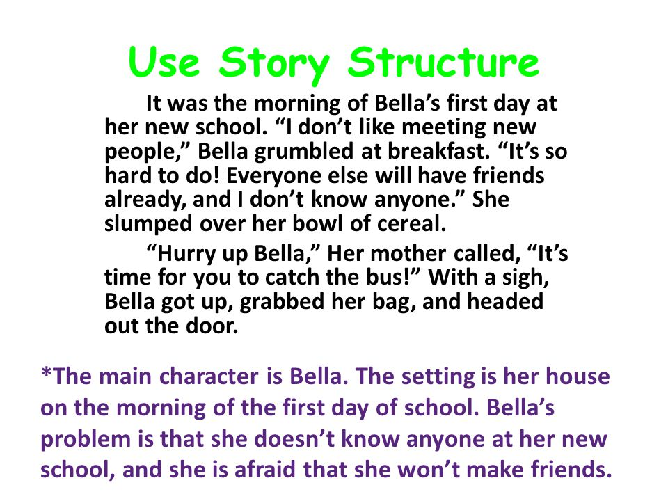 Use Story Structure