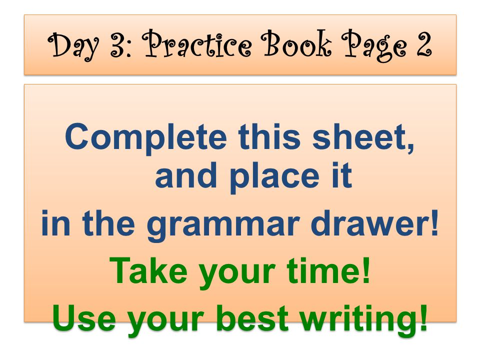 Day 3: Practice Book Page 2