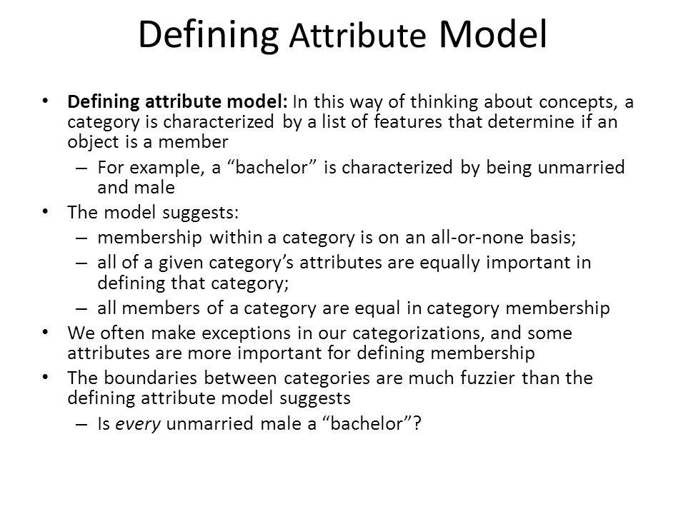 Defining Attribute Model