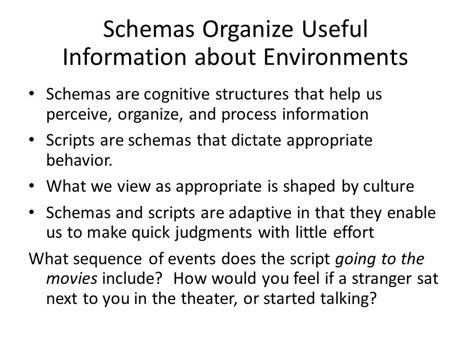 Schemas Organize Useful Information about Environments