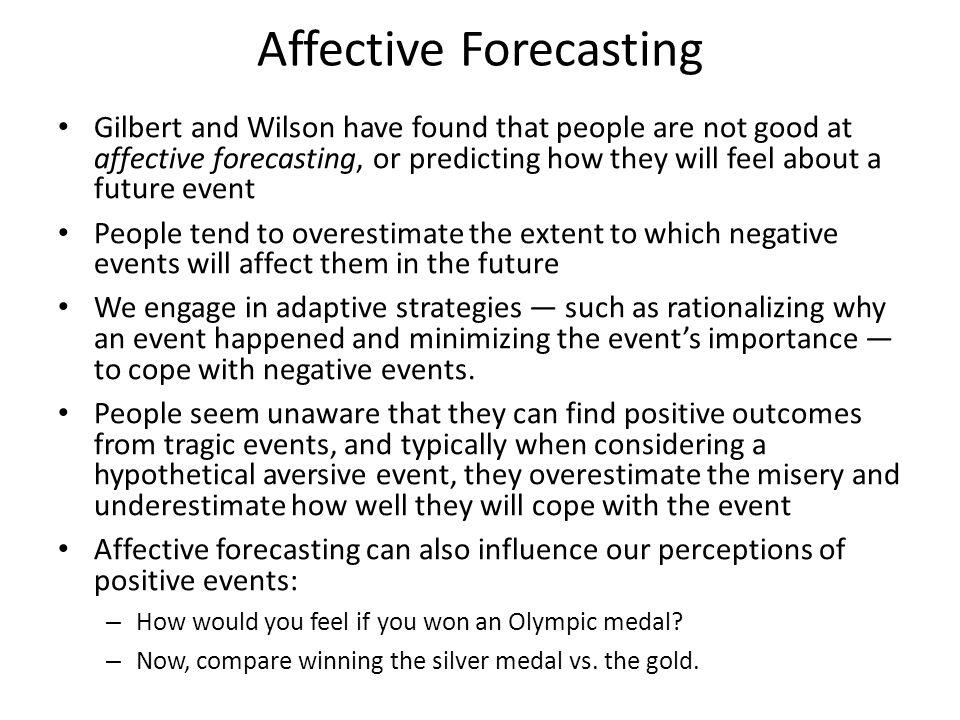 Affective Forecasting