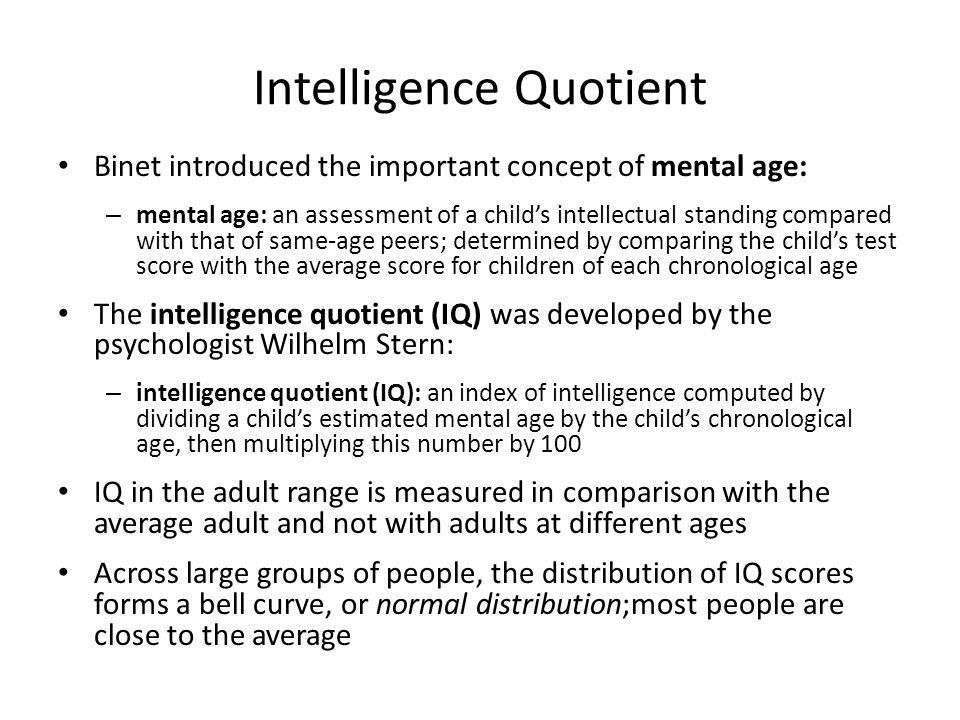 Intelligence Quotient
