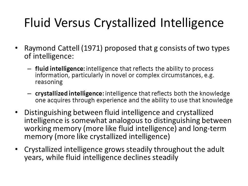 Fluid Versus Crystallized Intelligence