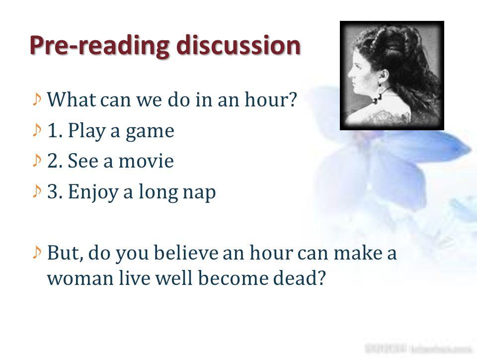 Pre-reading discussion