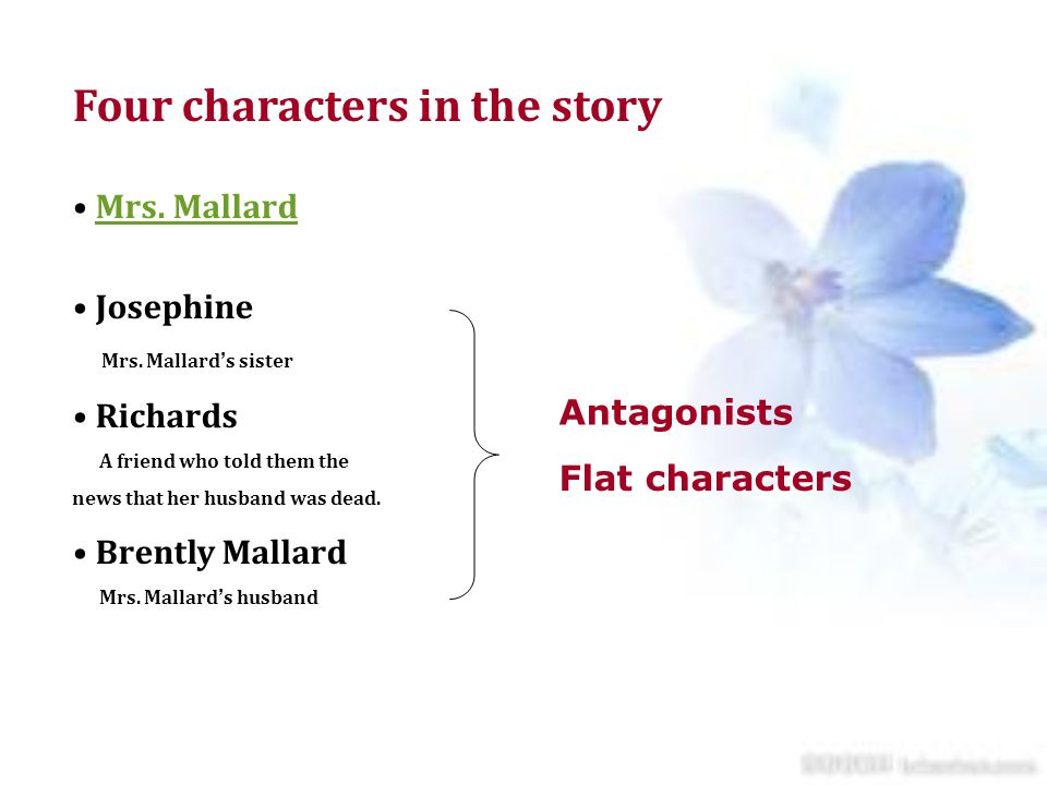 Four characters in the story