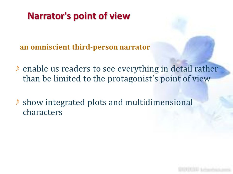 Narrator s point of view