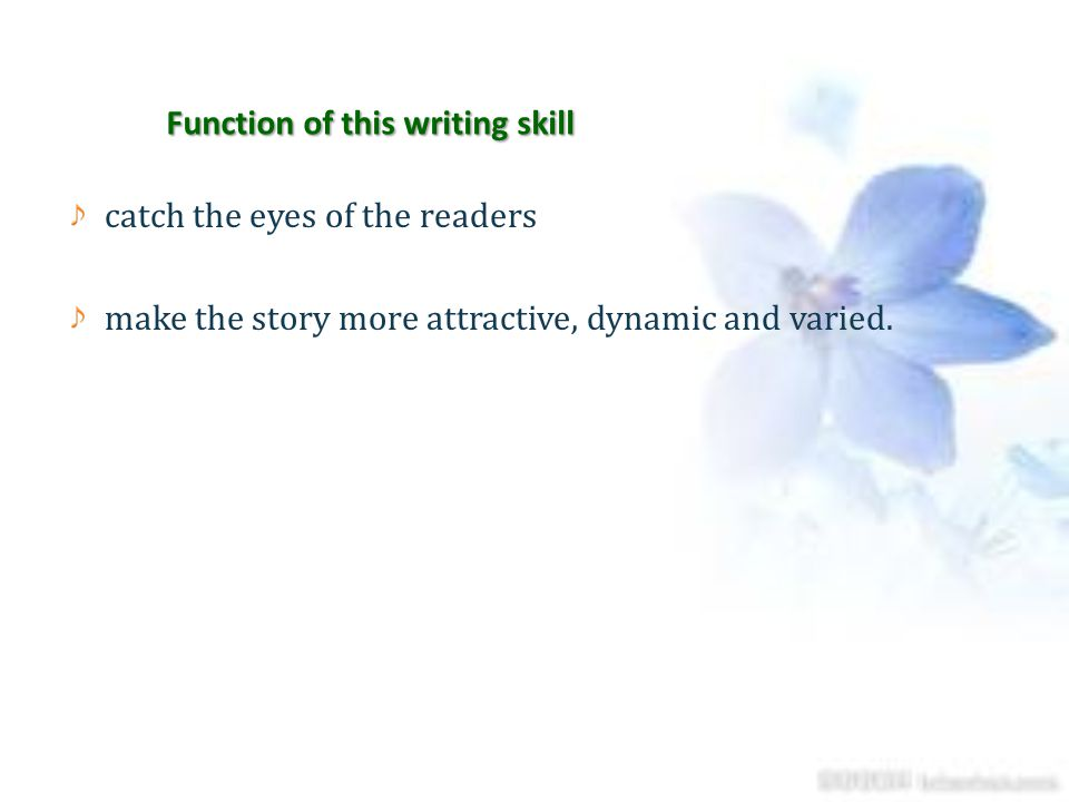 Function of this writing skill