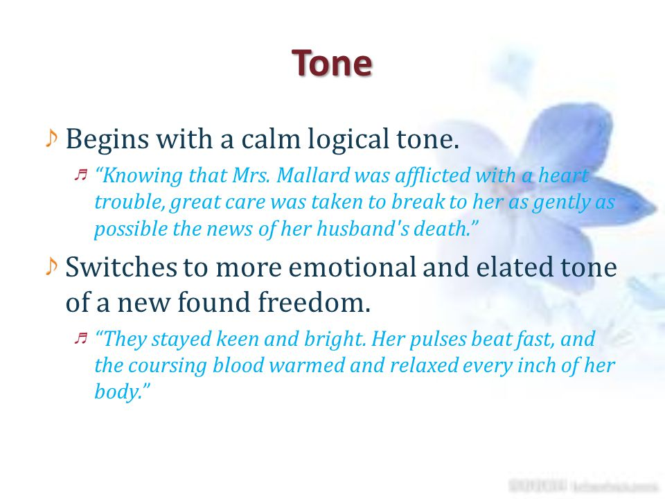 Tone Begins with a calm logical tone.