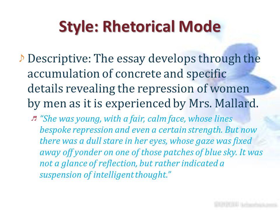Style: Rhetorical Mode