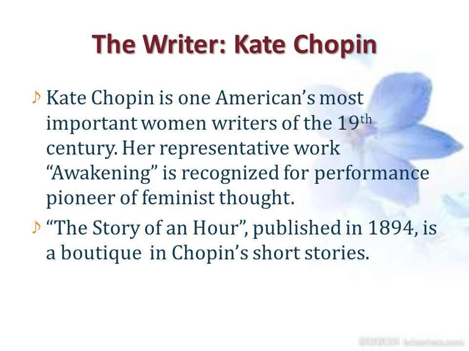 "the theme of kate chopin's the ""the storm"" kate chopin essay and setting to reveal her perspective on the theme of marriage and fulfillment kate chopin uses the approaching storm as a."