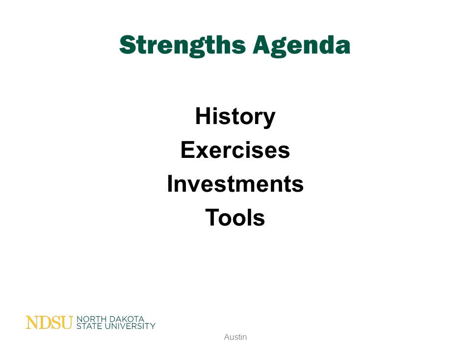 History Exercises Investments Tools