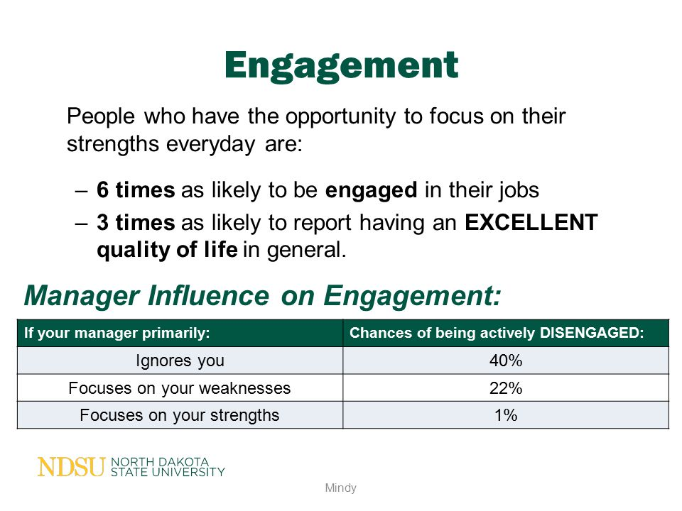 Engagement Manager Influence on Engagement: