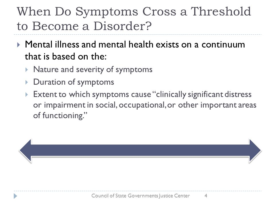 When Do Symptoms Cross a Threshold to Become a Disorder