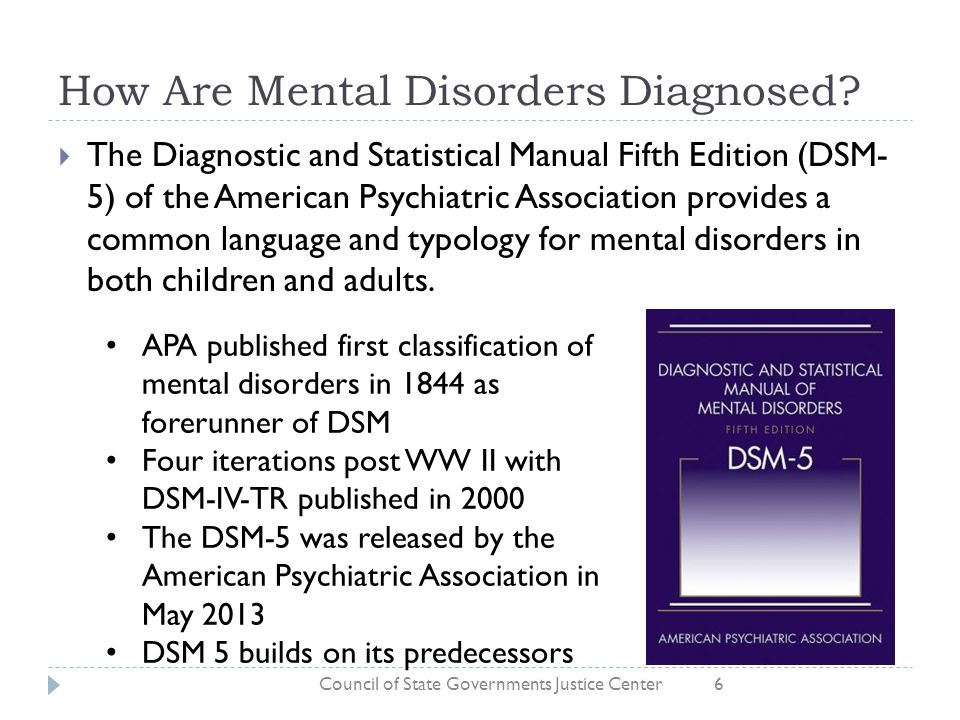 Mental disorder and association answer key