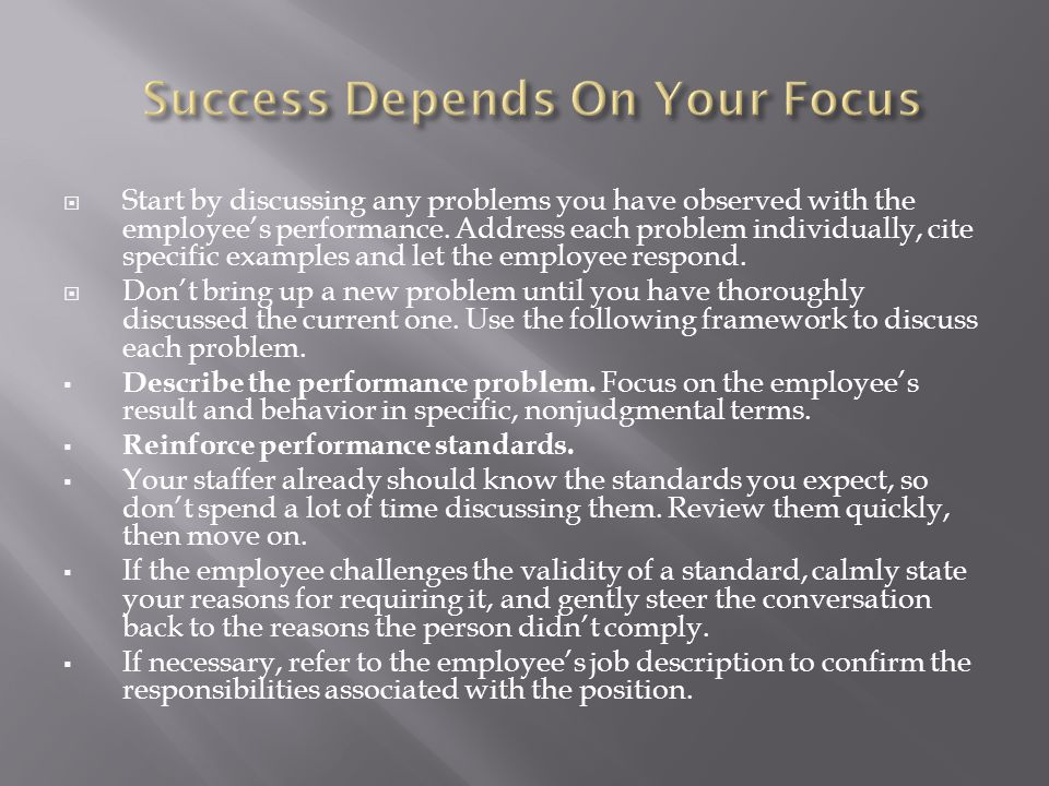 Success Depends On Your Focus