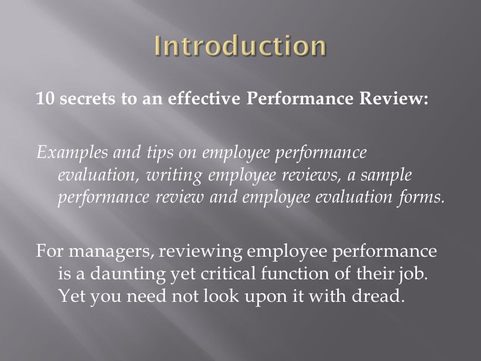 how to write an employee performance review
