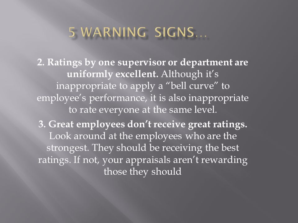 5 warning signs…