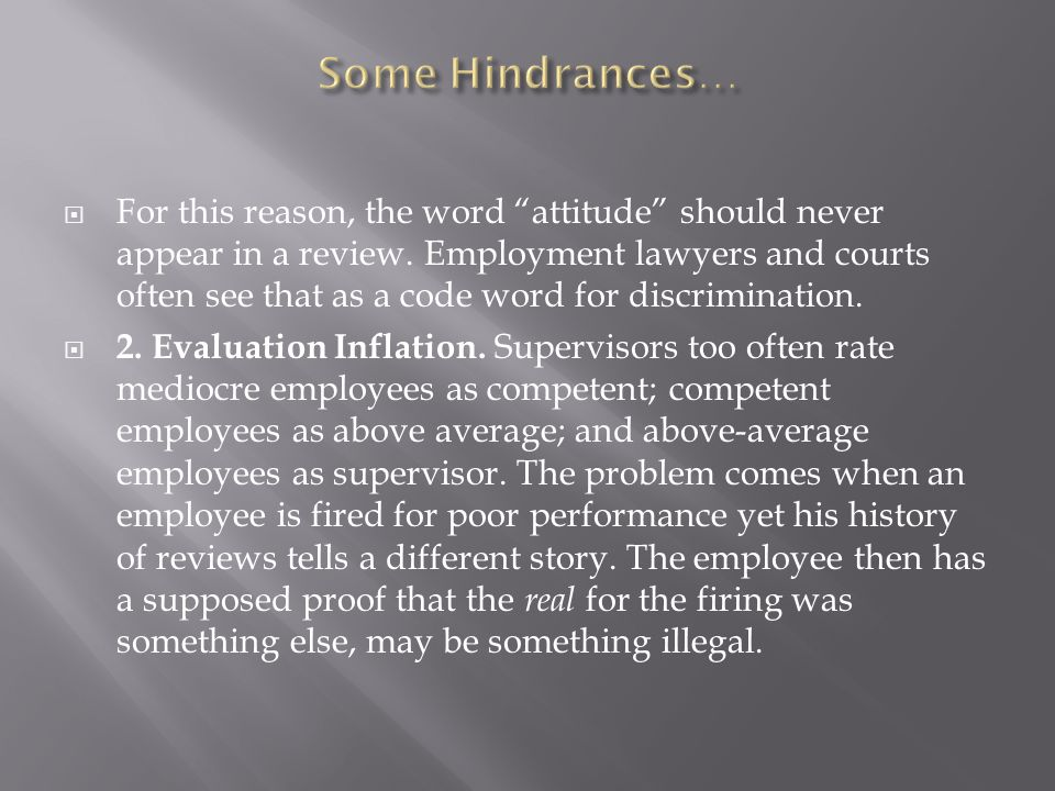 Some Hindrances…