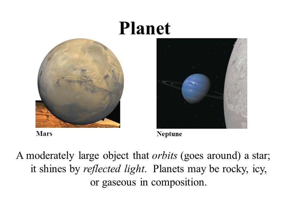 Planet Mars. Neptune.